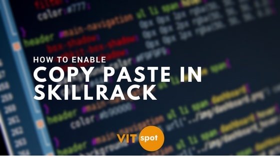 How To Enable Copy Paste in Skillrack